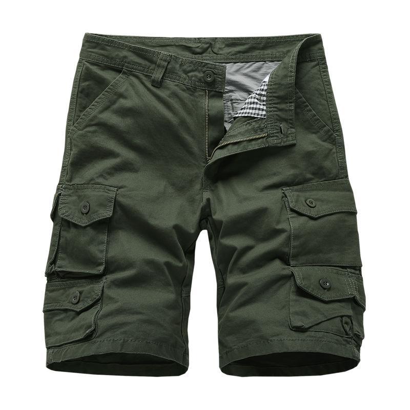 Pantaloncini merci militari da uomo Multi tasche Casual pantaloni corti Plus Size Cotton Shorts Brand Abbigliamento 2019 Spedizione gratuita