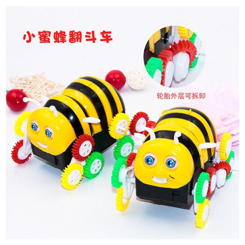 الكرتون صغير نحلة كهربائية شاحنة كهربائية، مع الموسيقى المتداول سيارة كهربائية، صبي متعدد بعجلات ولعب الأطفال