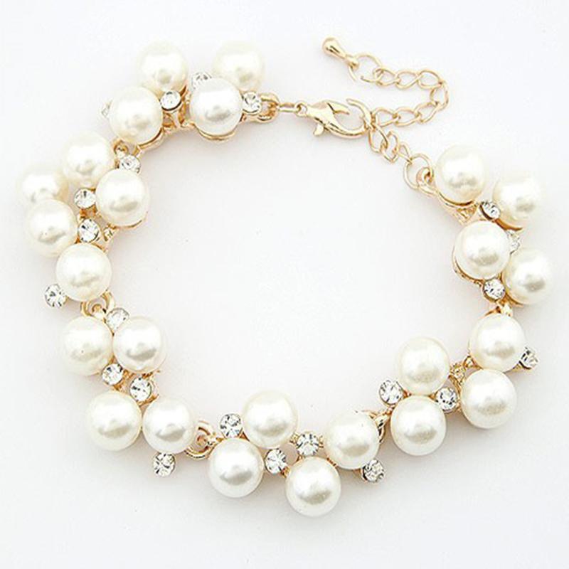 Bracciali da donna Nuovo design di lusso fascino cristallo cubico zircone simulato perline perline bracciale per le donne gioielli