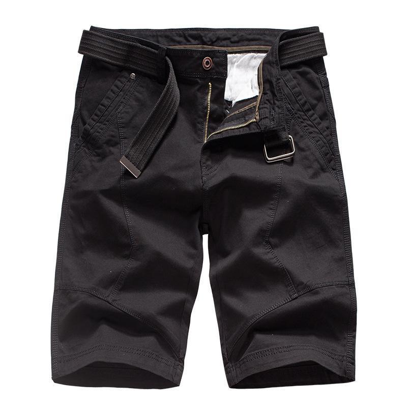 2021 Summer Mens Cargo Shorts Brand Green Army Tactical Shorts Uomo Cotton Work Lavoro Casual Brevi pantaloni Nessuna cintura
