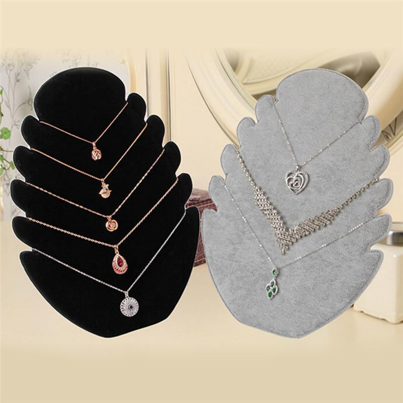 Jewelry Pouches, Bags 1Pc Pendant Necklace Chain Display Holder Stand Velvet Easel Organizer Rack Women Jewelery Multi-functional Storage