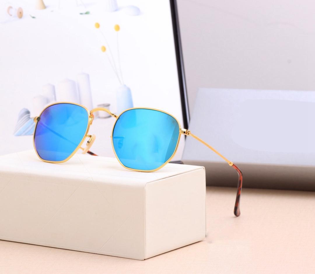2021 Top Qualität Polarisierte Glas Linse Klassische Kontrolle Metall Marke Sonnenbrille Männer Frauen Urlaub Mode Sonnenbrille 6 Farbe