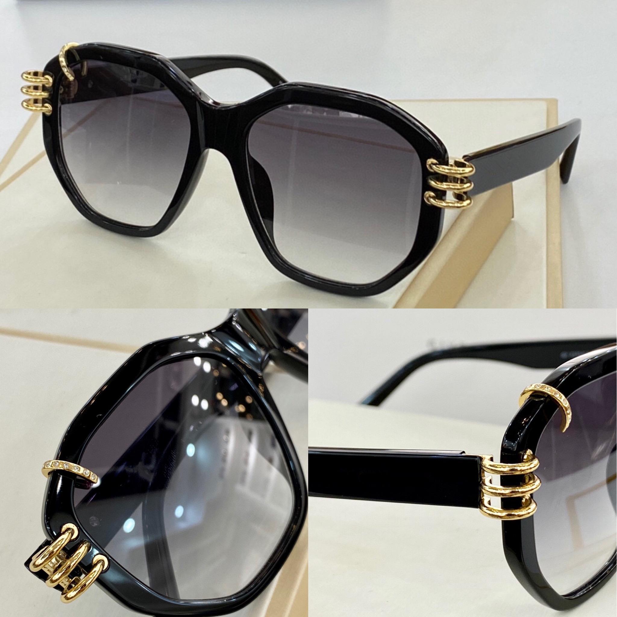 7175 Yeni Moda Güneş Gözlüğü Ile UV Koruma Için Erkekler Ve Kadınlar Vintage Oval Çerçeve Popüler En Kaliteli Case Klasik Güneş Gözlüğü Ile Gel