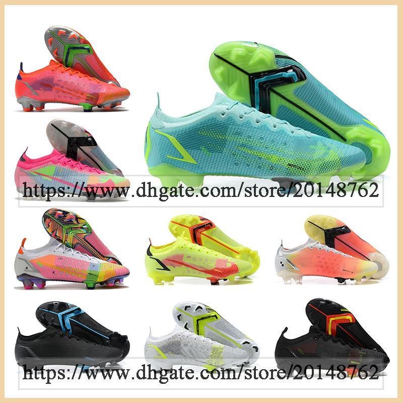 선물 가방 망 높은 탑스 축구 부츠 Mercurial Vapores 14 잠자리 엘리트 FG Cleats 야외 Superfly XIV ACC 축구 신발