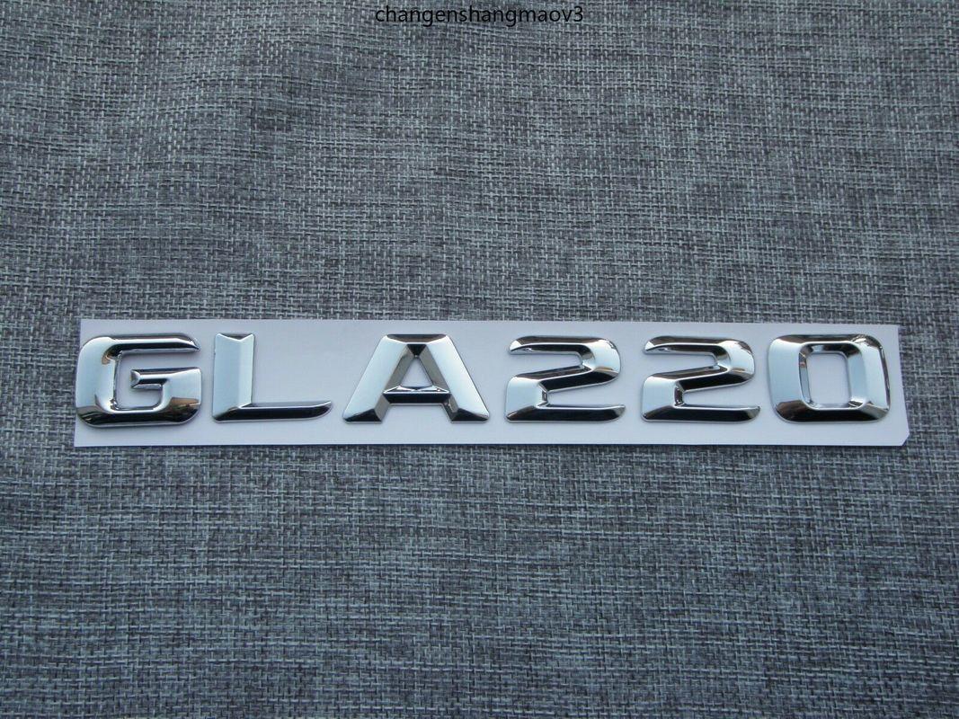 3D Chrome Number Buchstaben GLA 220 Kofferraum Embleme Abzeichen für Mercedes GLA220