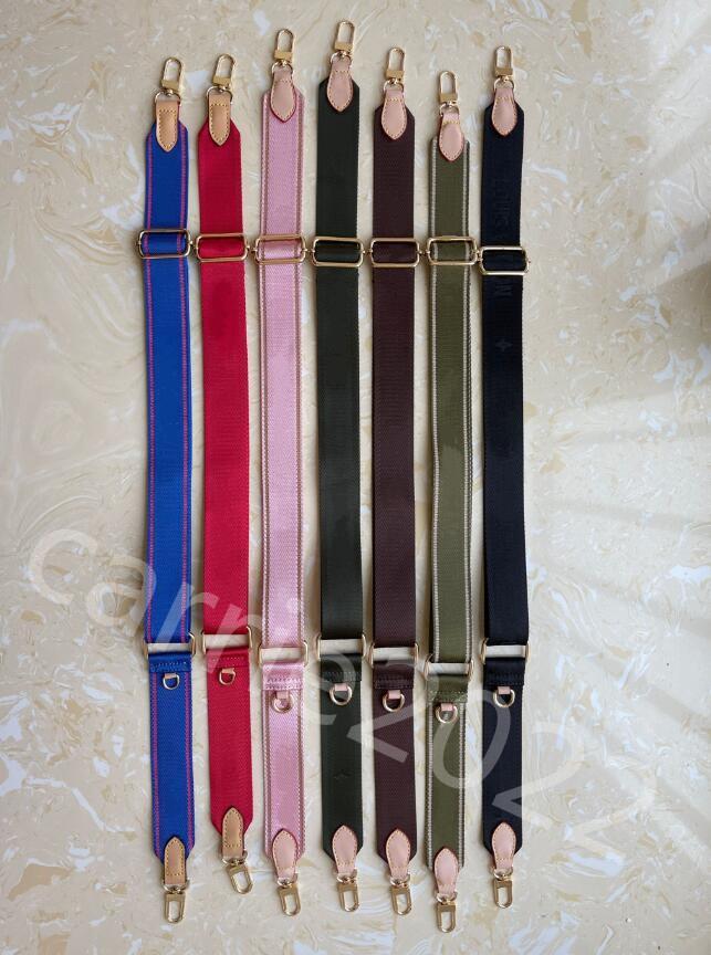 1 PECS Accesorios de alta calidad Correas para el hombro para el partido 3 pieza Set Old Flower Mujer Bolsa de Crossbody Piezas de lienzo Strap Venta 6 Colores Rosa Negro Verde azul marrón rojo