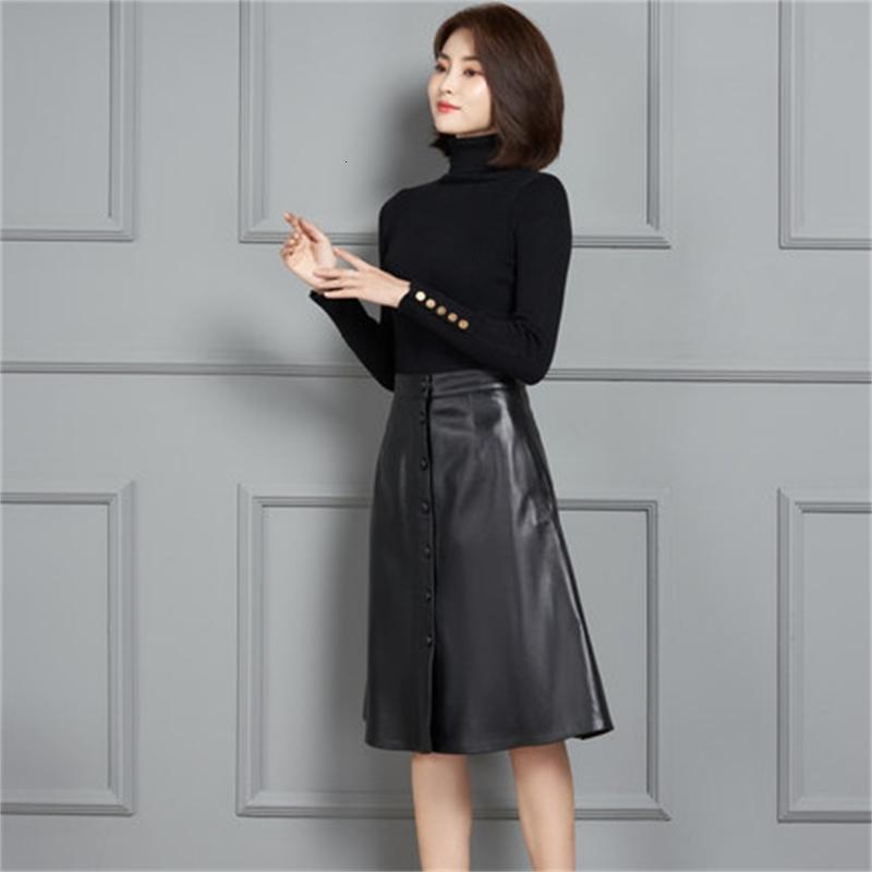 2021 Yeni Moda Hakiki Kraliyet Koyun Deri Etek K11 BA0M