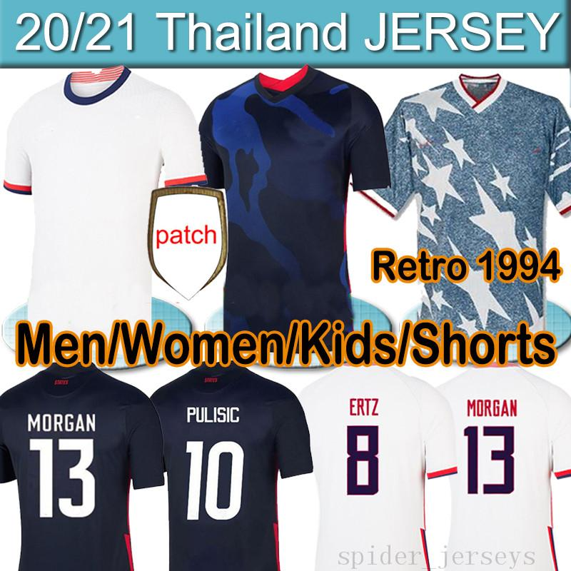 4 stars US 2020 2021 PULISIC REYNA A Soccer men women kids kit Jerseys DEST MCKENNIE LLOYD MORGAN America Football United States Shirt