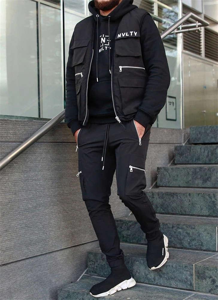 Multi Pocket Fitness спортивные мужские стройные повседневные комбинезонные штаны