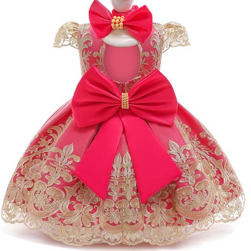 طفلة اللباس رباطات 2 قطع الرباط قصيرة الأكمام bowknot فساتين الأميرة 1st عيد اللباس لطفل فتاة فساتين رسمية الملابس B4037
