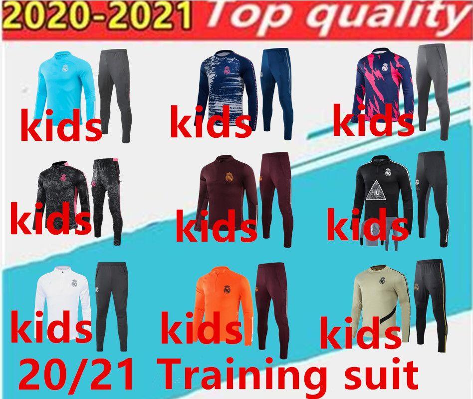 Çocuklar 20 21 Gerçek Madrid Futbol Spor Çocuk Takip Takım Elbise Chandal 2020 2021 Camiseta de Futbol Tehlike bezema modik yetişkin eşofman takım elbise.