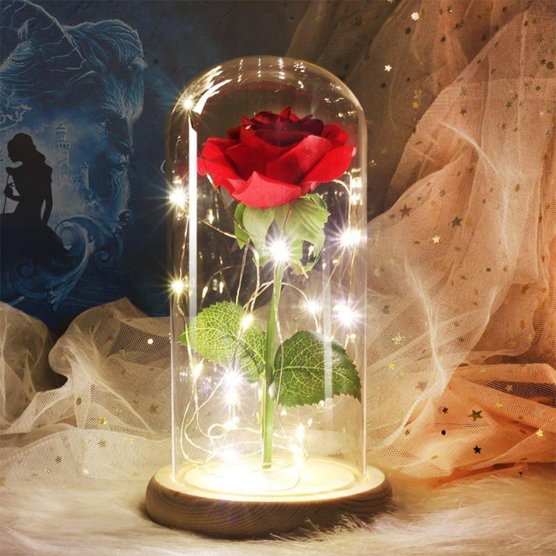 Dia dos Namorados LED String Light Flores Mummy Aniversário Presente Ornamento Dia Das Presentes Luz Novo