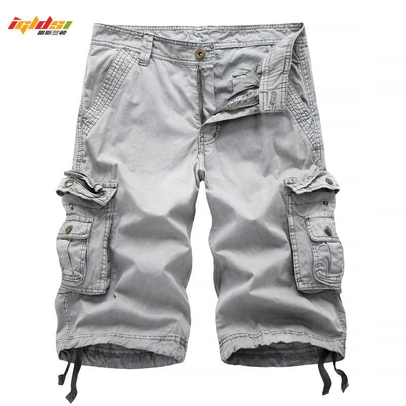 Camuflagem tática camuflagem camo shorts homens homens novos homens casuais homens macho solto trabalho shorts homem militar calças curtas 30-40 210310