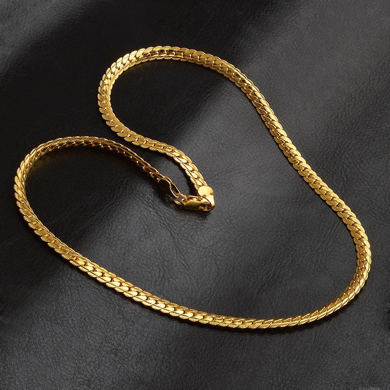 5 ملليمتر 18 كيلو الذهب مطلي سلاسل الرجال s الهيب هوب 20 بوصة سلسلة قلادات للنساء s الأزياء الهيب هوب مجوهرات اكسسوارات حزب هدية 154 Q2