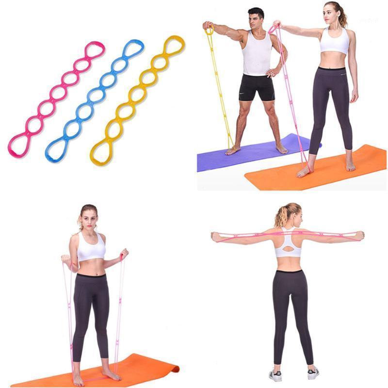 Резистические полосы 7 отверстий силиконовые йоги полосы фитнес тянуть веревочные веревочные мышцы мышцы тренировки релаксации инструменты портативный домашний спортзал 151