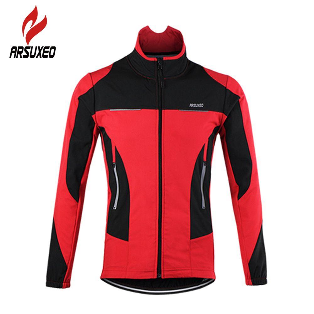 Arsuxeo Bicyclette Sports Sports Thermo-thermo-vélo Tour de vélo Sport Vélo Jersey Jersey Vestes L0305