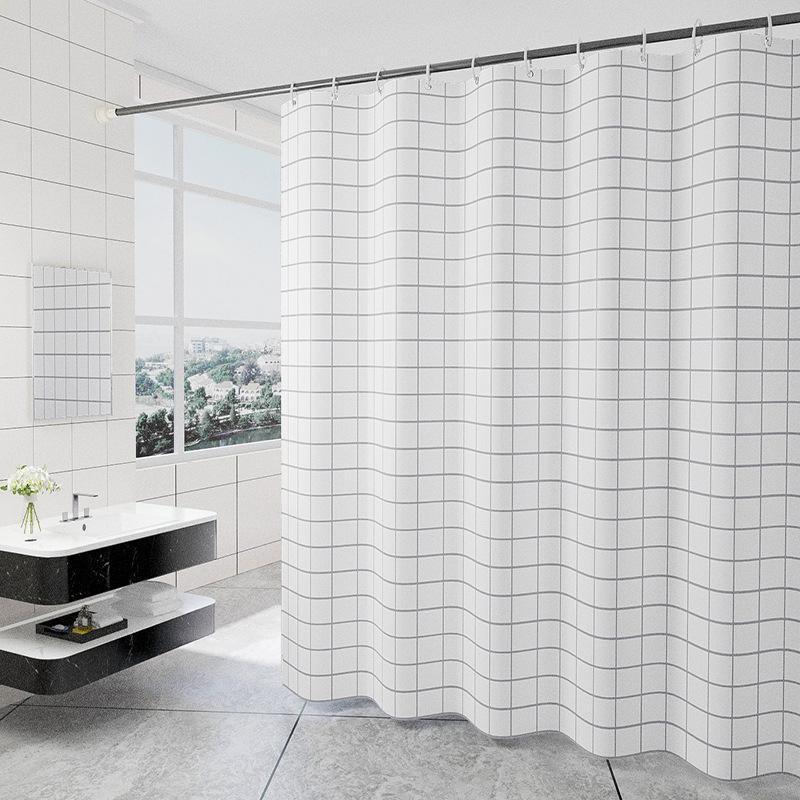 Мода белая сетка печати жалюзи шторы для ванной комнаты Размер Размер полиэстер ванна занавес водонепроницаемый душ домашний декор