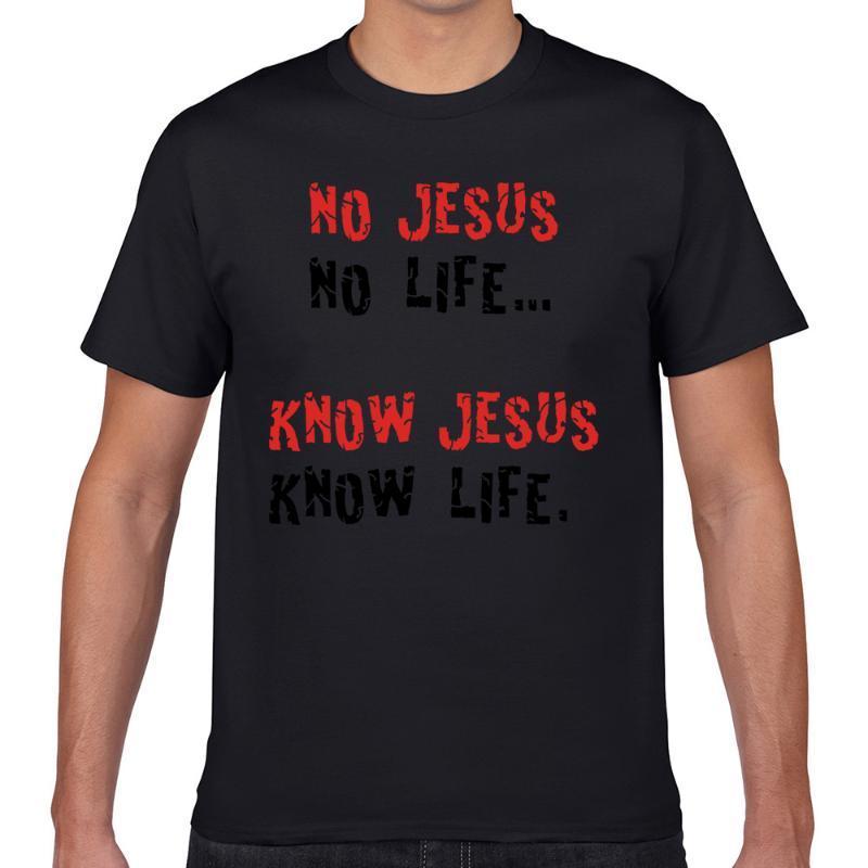 T-shirt da uomo Top T Shirt Uomini No Gesù Life 2 Fashion White Geek Short Maschio Tshirt XXXL
