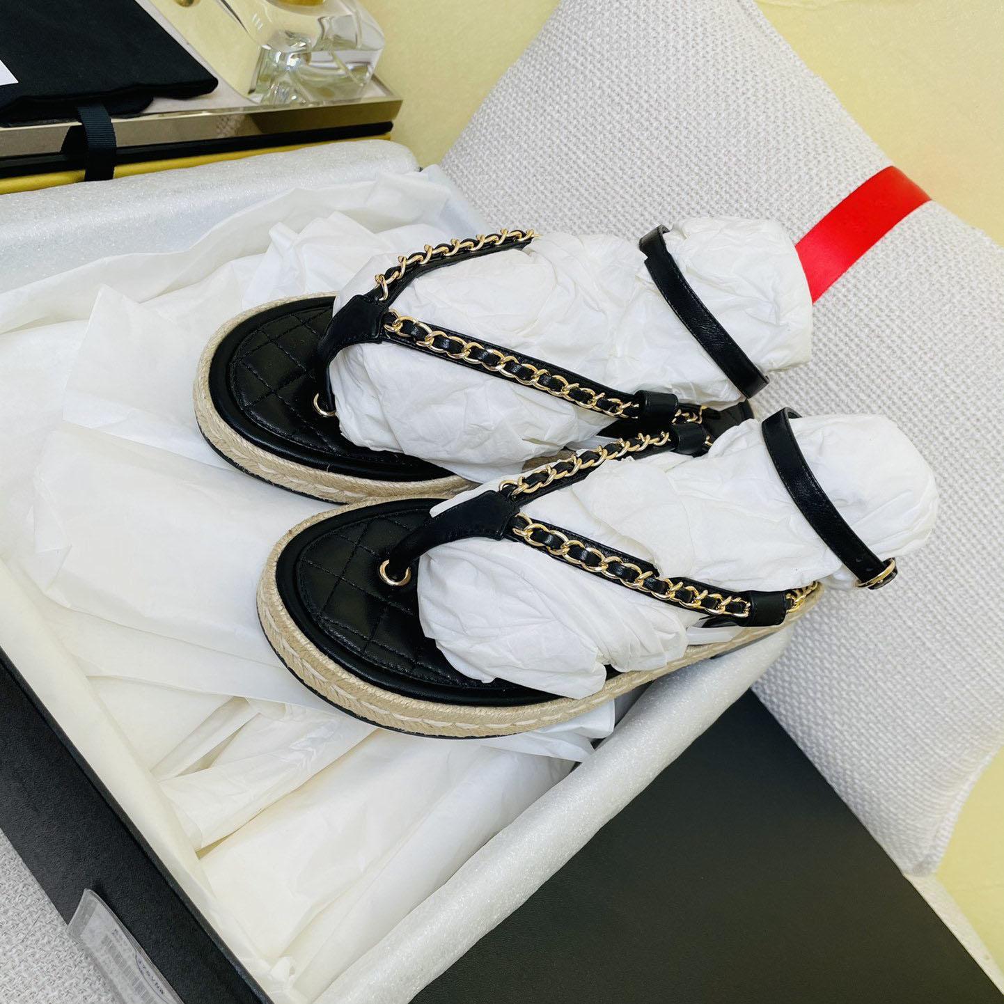 2021 Yeni Kadın Sandalet Fisherman Ayakkabı Zincir Dekor Kadın Ayakkabı Hakiki Deri Flip-flop Sandalet Kadınlar Için Ayak Bileği Kayışı Sandalet 210302