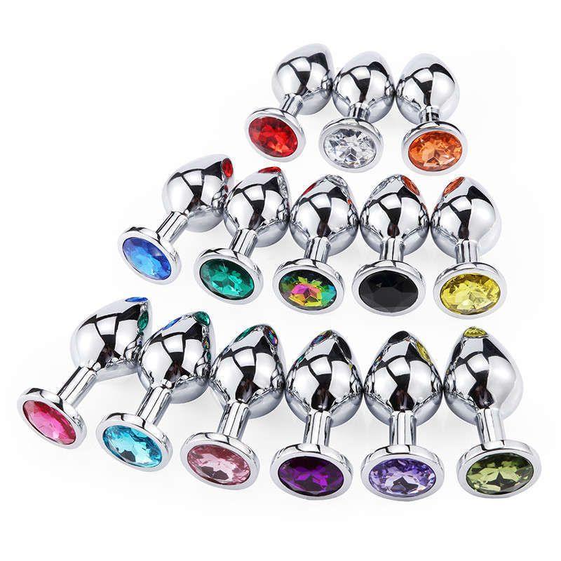 Секс-игрушки анальный мини круглая металлическая кристалл ювелирные изделия женские / мужчины для приклада штекер маленький унисекс взрослый juguete сексуальный анальный плюг null0