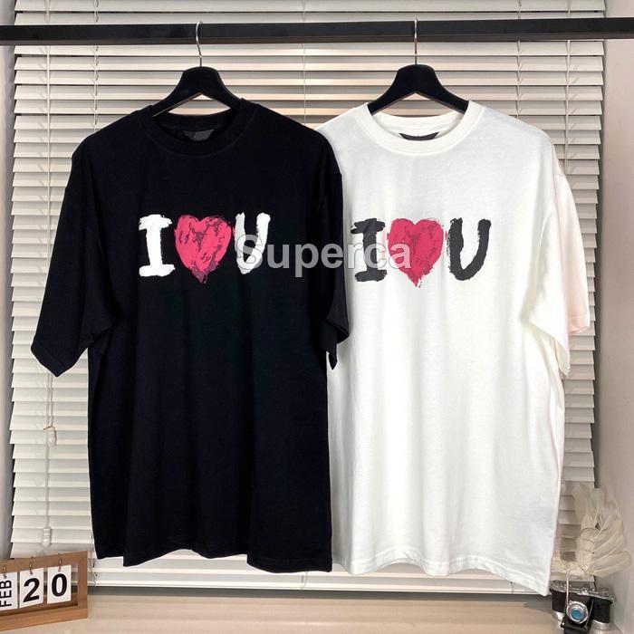 2021 Top Qaulity Designer estivi Tees T Shirt Moda 100% Cottoma Manica corta Tee confortevole Black Bianco Uomini Donne Paris T-shirt