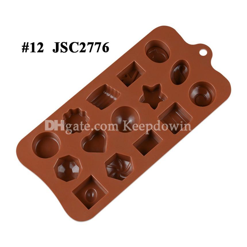 Çikolata Kalıpları Silikon Sıcak Kakao Bombaları Kalp Kalıpları Çikolata Şeker Kalıpları Için Silikon Şekiller Festivali Düğün Partileri için Silikon Şekiller JSC22277