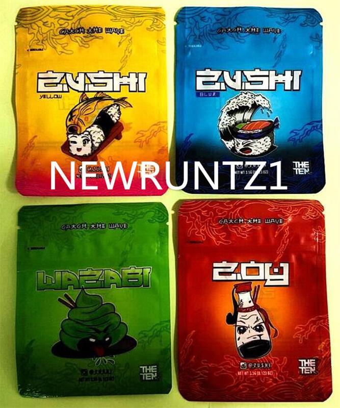 Sacchetto di alta qualità 3 design Zu_shi con cerniera a prova di bambino con cerniera opaca di finitura di plastica Imballaggio alimentare di plastica Huachuaf