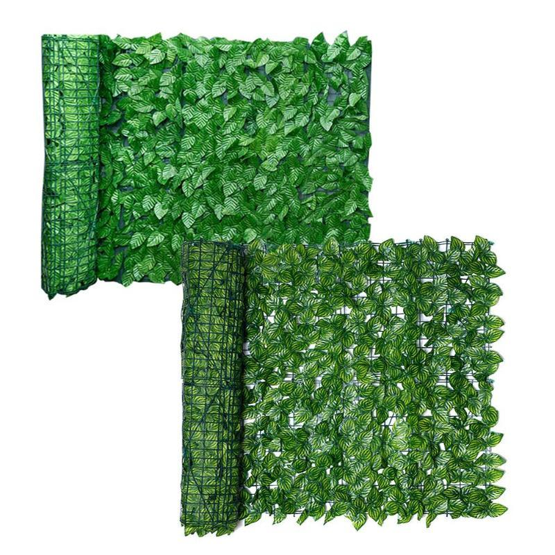 0.5x3m ورقة الاصطناعي حديقة سياج الفحص لفة الأشعة فوق البنفسجية تتلاشى الخصوصية الخصوصية الاصطناعي السياج جدار المناظر الطبيعية اللبلاب
