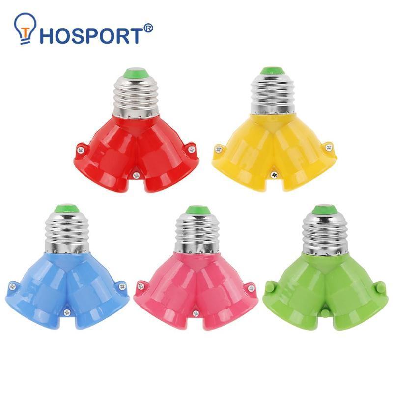 Lampenhalter Basen 2 in 1 Doppel-E27-Sockel-Bock-Birne-Extender-Splitter Kontaktadapter-Wandler-Stecker Halogenlichthalter Kupfer