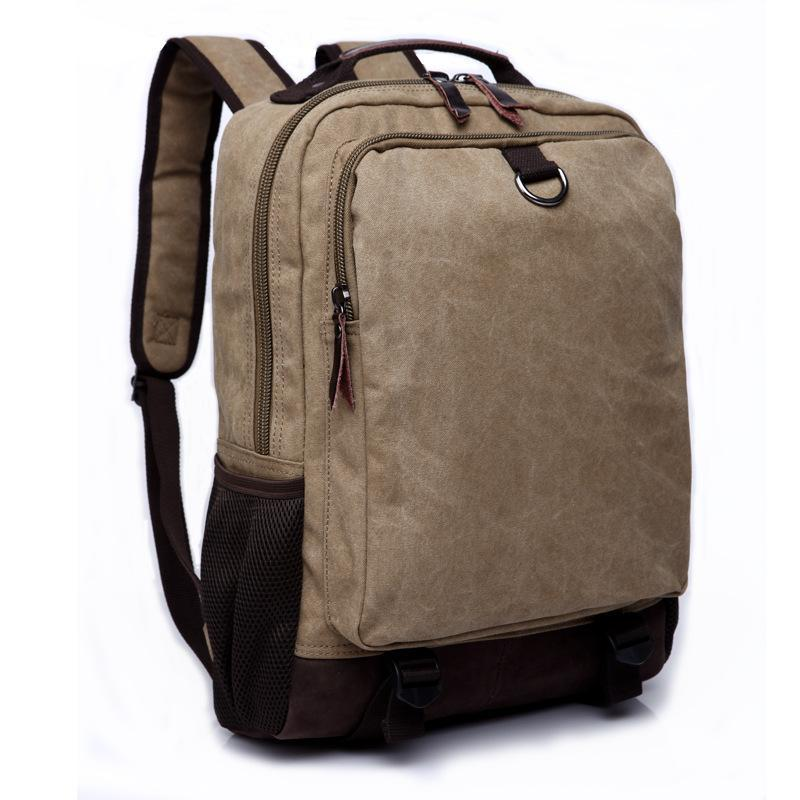 Backpack Large Capacity Men Canvas Mochila School Bags For Teenager Boys Laptop Computer Casual Travel