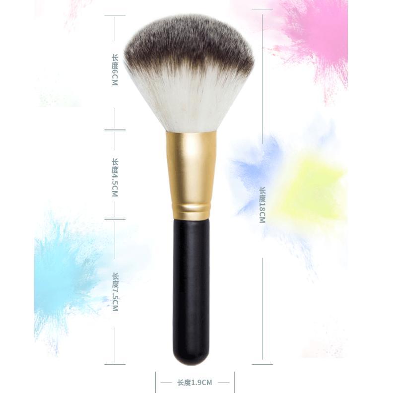 Brosses de maquillage Brosse en poudre simple en vrac Large maquillage maquillage peinture peinture outil de beauté professionnel outil de trois couleurs gradient multifonction