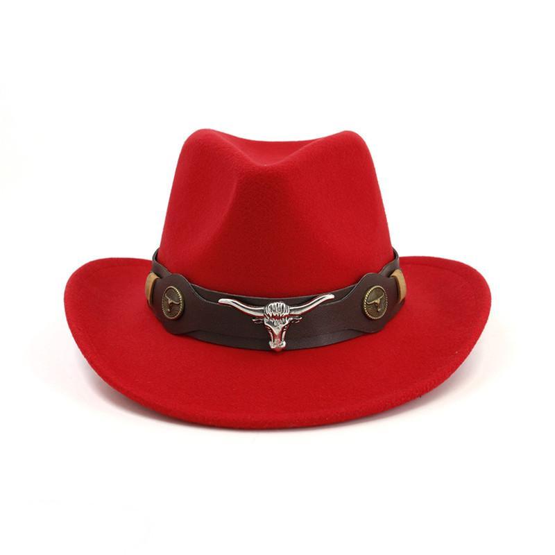 Men Women Cowboy Hat Felt Fedora Hat outdoor Travel wide brim hats Man Woman Western Knight Cap Couple Top caps Fashion Accessories NEW