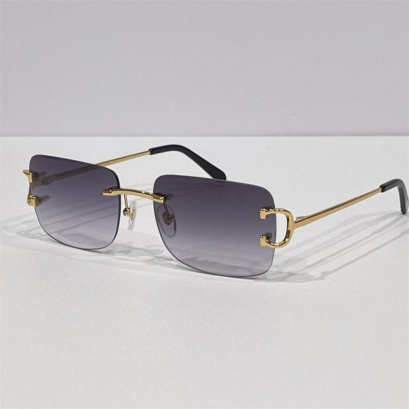 Männer Luxus Designer Sonnenbrille Outdoor Mode Zonnebril Frauen Vintage Frameless Quadrat Kleine Randlose Eyewear Anti-reflektierende optische GALSSES Brille 0104