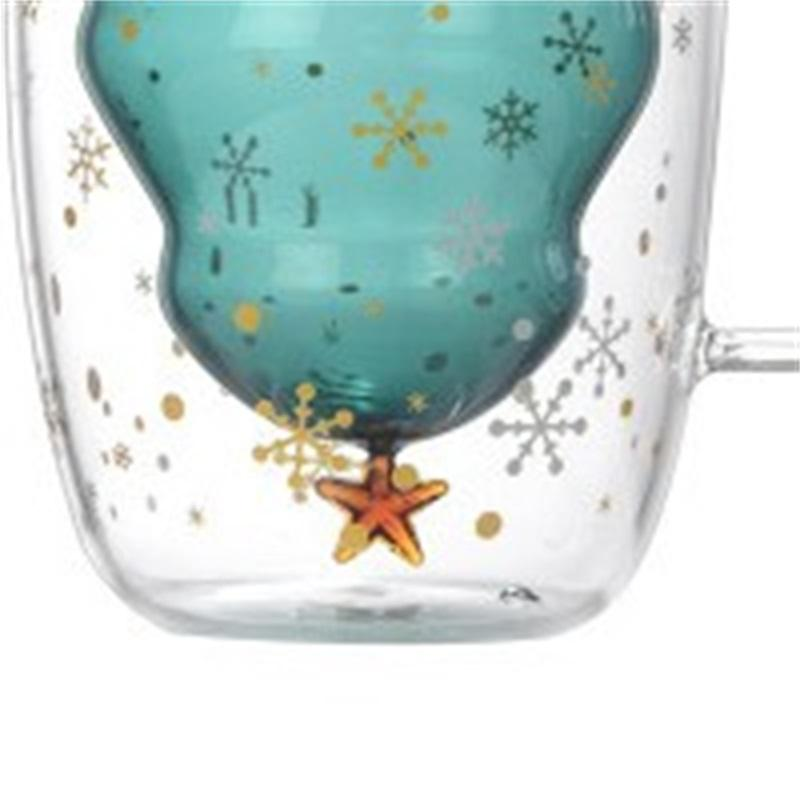 Capodanno innovativo vetro albero natale tazza stella tazza ad alta temperatura tazza doppia tazza d'acqua personalizzata per partito regali di Natale 737 k2