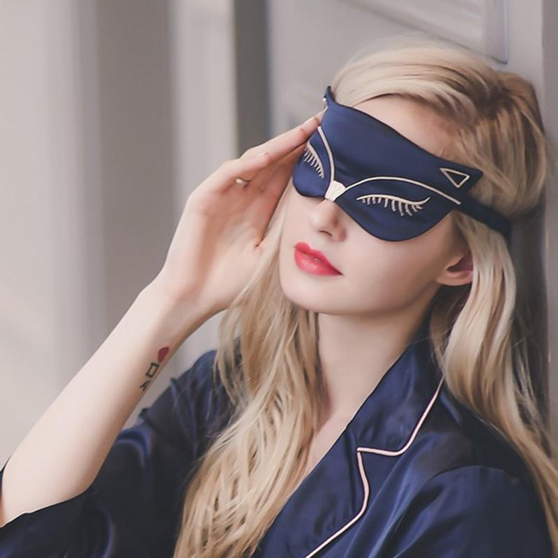 Party Gunst Seide Augenbinde Schlafende Maske Augenband Cover Sleep Dream Goggles Nachahmung Für Frauen Rest Reisen Glattes Nickerchen