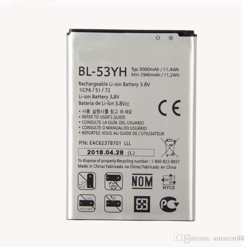 بطارية عالية BL-53Yh ل LG G3 D858 D859 D830 D850 D851 D855 F460 F460 F400K / S / L VS985 G3 F400