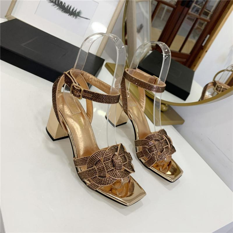 Top quality 2021 luxury Designer style Patent Leather Thrill Heels Women Unique Letters Sandals Dress Wedding Shoes Sexy shoes rthry