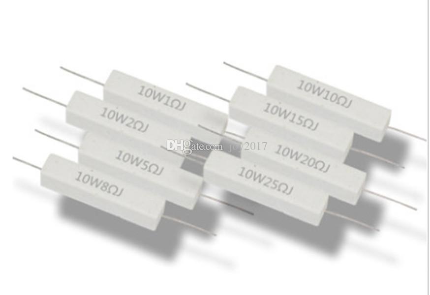 Freeshipping 10W5RJ ceramic cement resistors cement resistance 10W5 lead 10 watts 5 ohm load resistor 5PCS/LOT