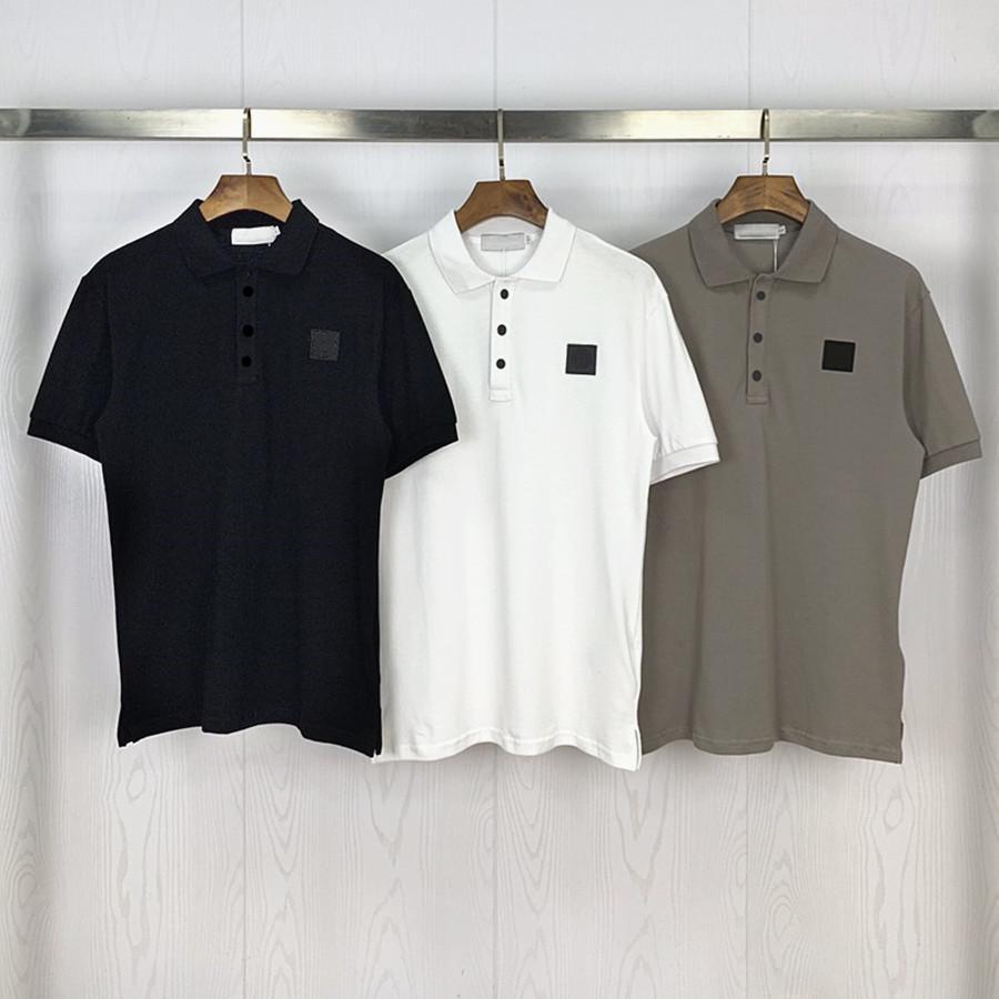 Erkek Polos T-Shirt En Kaliteli Kısa Kollu Yaz Pamuk Nakış Lüks T Gömlek Yeni Tasarımcı Polo Gömlek High Street Tee