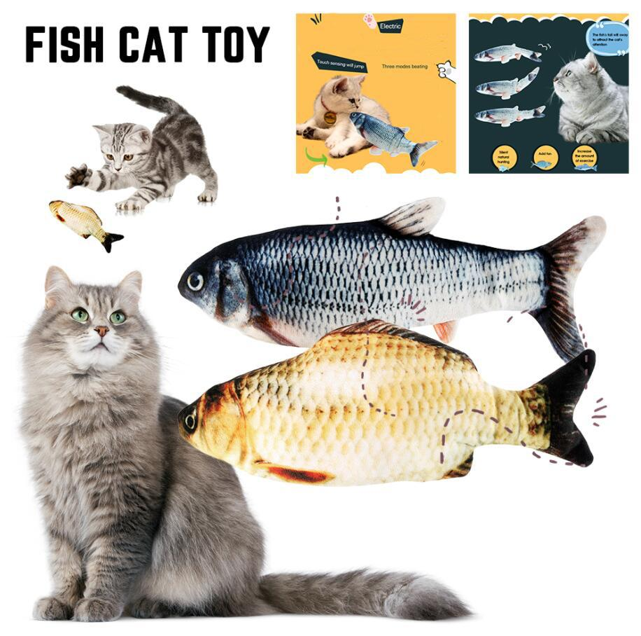Electronic 3D Flippity Fish Toy Cat USB Charging Simulation Toys For Interactive Game Cats Pet Supplies Cats Dog Toys