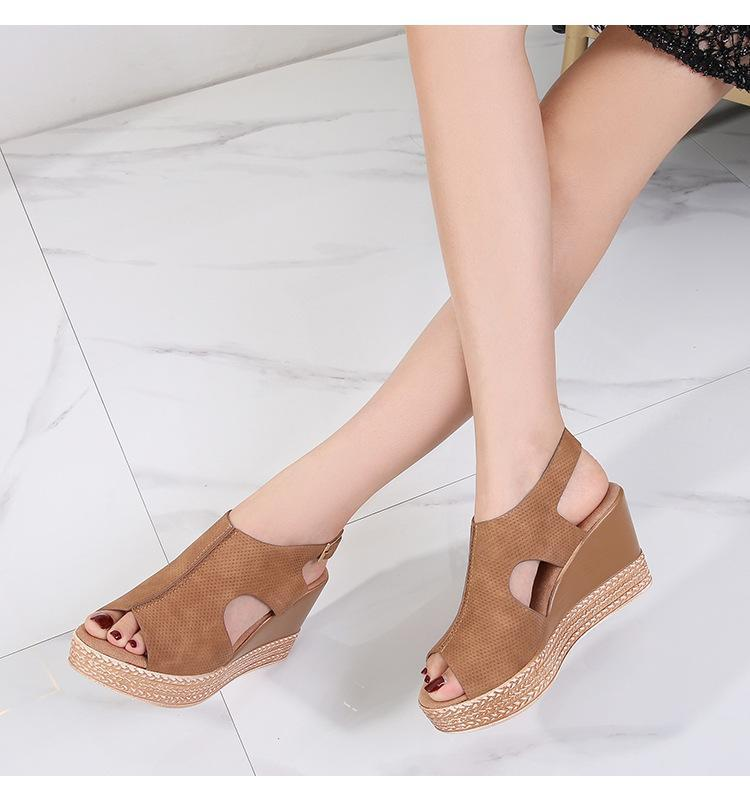 2021 Summer Woman Open toe Sandals Shoes Woman Vintage Ladies Flat Gladiator Sandals Shoes New Brand