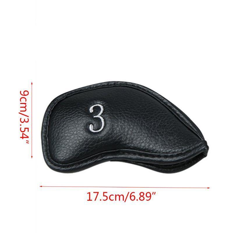 12 Pçs / conjunto portátil PU Golf Club Head Head Coberturas Protetor Golfs Cabeça Capa Conjunto K1KD L0302