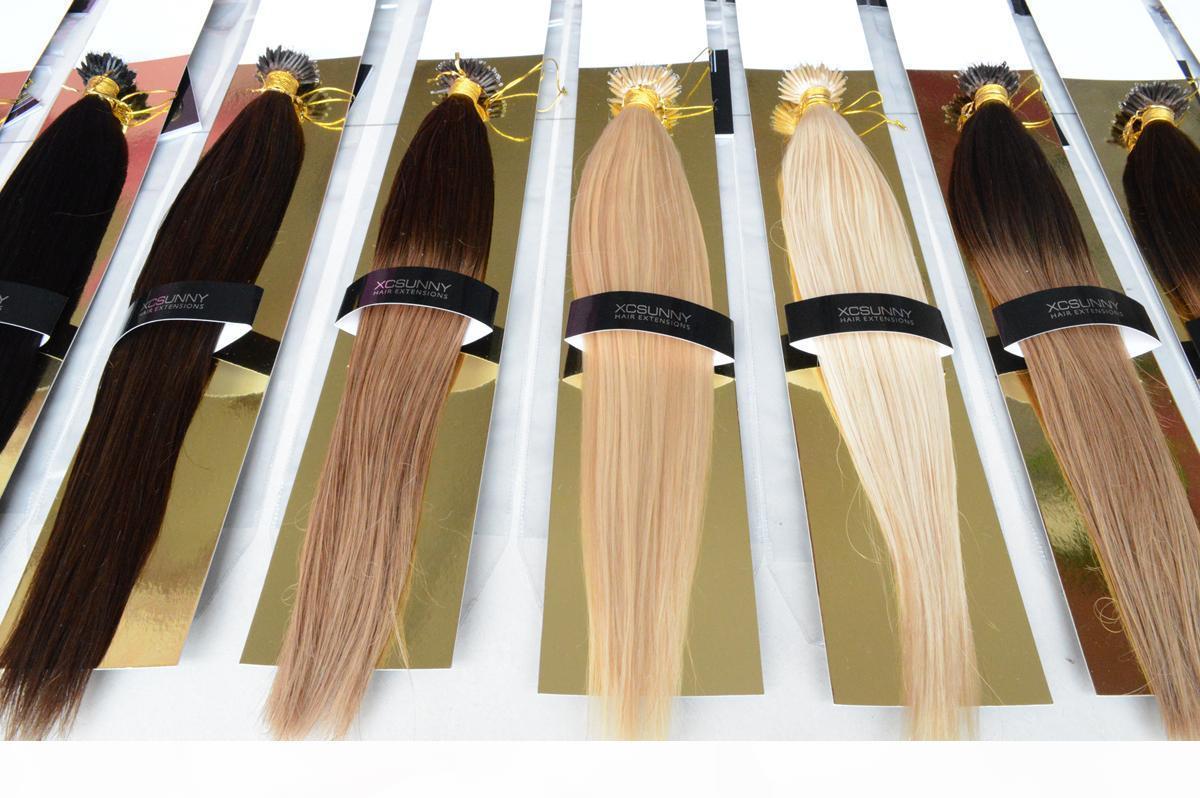 """Nano Loop Human Hair Nano Rings 100g 100beads+18"""" 20"""" Hair Extensions"""