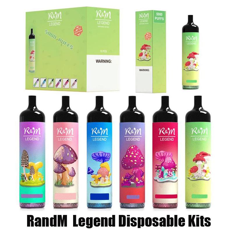 Authentische Randm-Legende E-Zigarette Einweg-Pod-Gerät-Kit 5000 Puffs 12ml Vorgefüllte Pod-Patrone 950mAh-Stick Vape-Stift RM-Dampf 100% Original