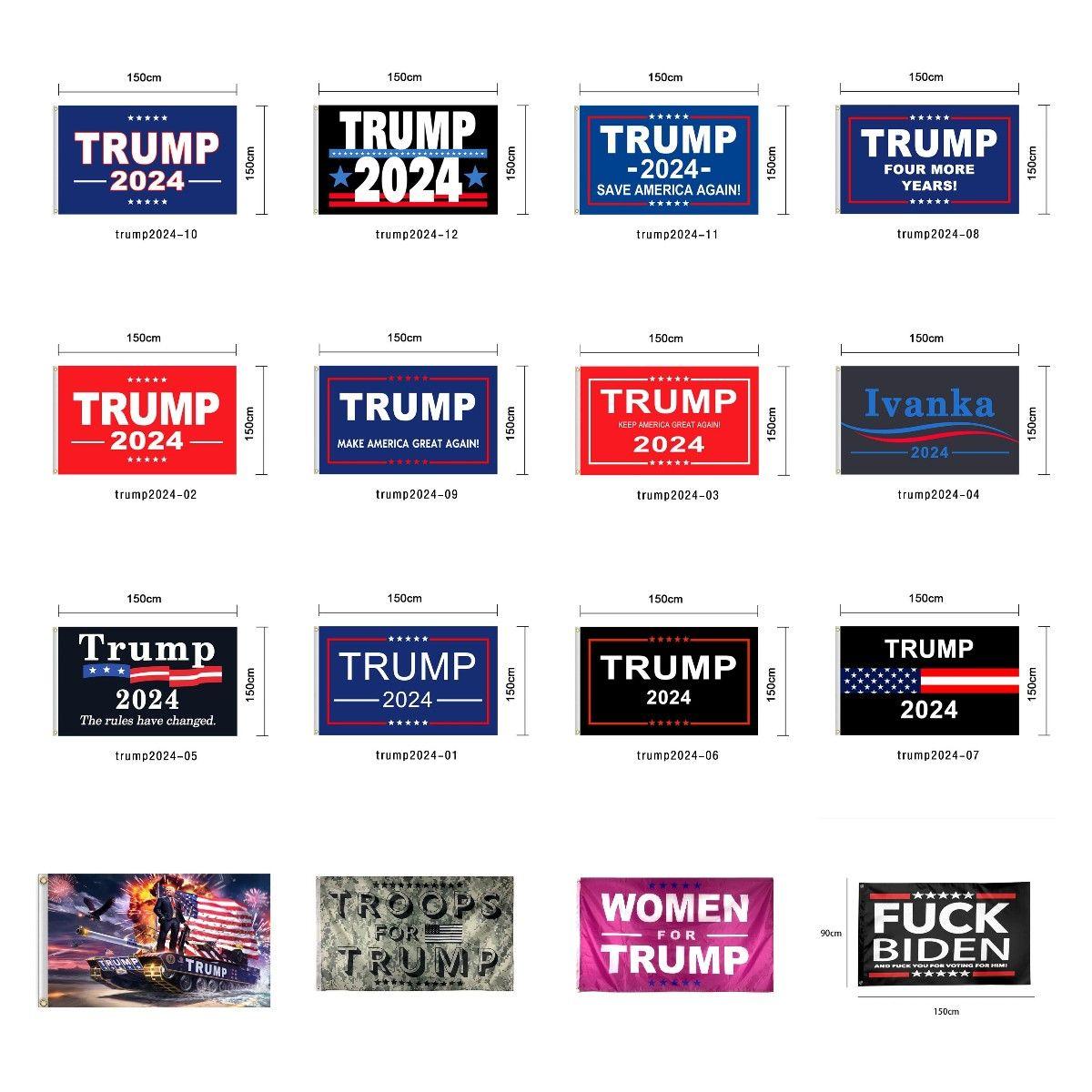 Trump Flag 2024 Election Flag Banner Donald Trump Flag Keep America Great Again 150*90cm 16 Styles Ivanka Trump Flags CYZ2982