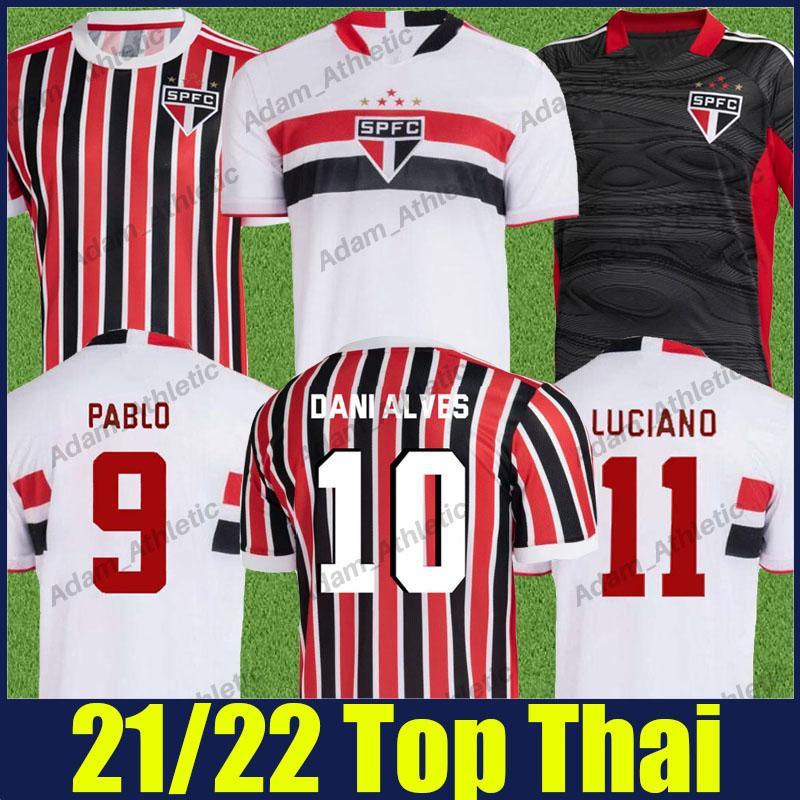 Sao Paulo Futbol Formaları Pablo Igor Gomes Dani Alves Futbol Jersey Eğitim Gömlek Hernanes Luan Luciano Üniforma Goleiro Camisa Treino SPFC Adam Kadınlar 2021 2022
