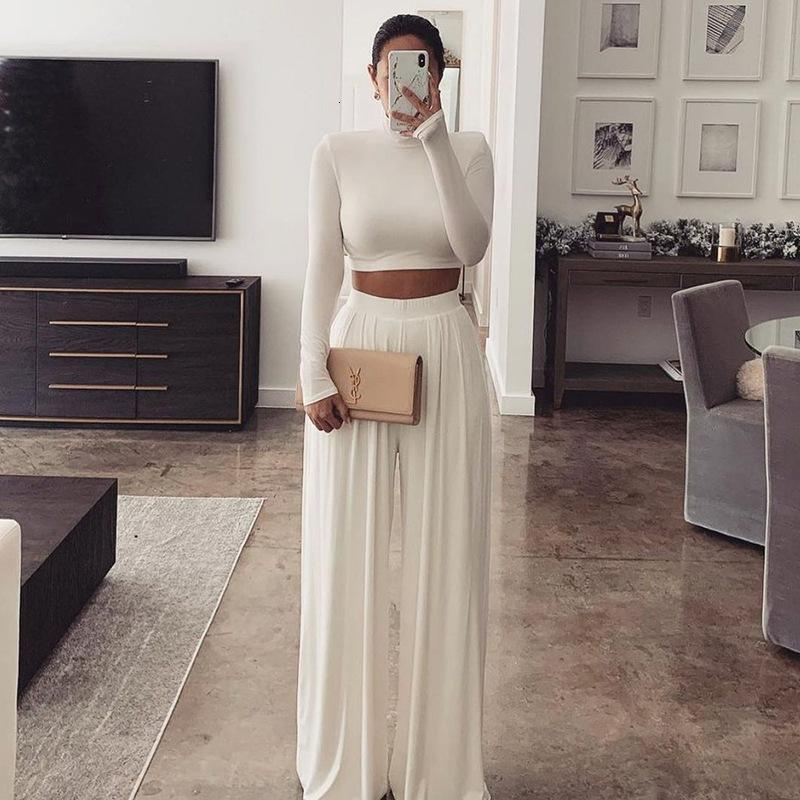 2 Kadın Avrupa Parça Sıcak Moda Satılık Renk Ürünleri Toplu Lots + Üst Bacak Damla Suit Pantolon JM8M