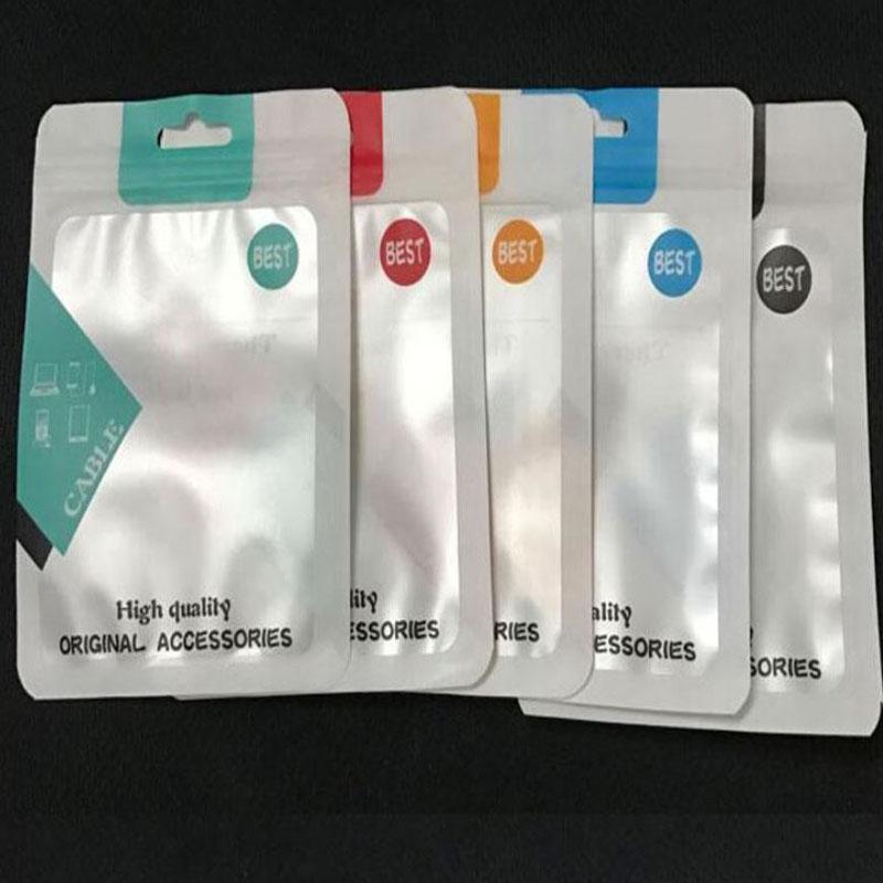 10.5x15CM пластиковые полиэтиленовые пакеты OPP Упаковка молнии замок пакет аксессуары для розничных коробок PVC ручки для USB-кабеля