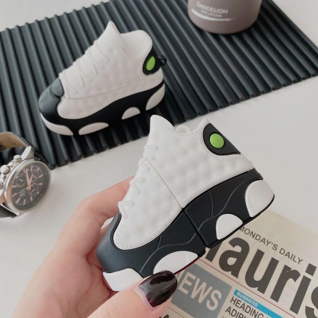 3d الفاخرة شارع الرياضة العلامة التجارية الأحذية سماعة الحالات سيليكون سماعة غطاء ل airpods الموالية ل apple airpods 1/2/3