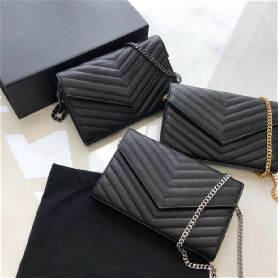 Corrente de couro genuíno bolsa de moda embreagem lady saco de ombro bolsa de couro bolsa presbyopic cartão titular bolsa messenger mulheres atacado